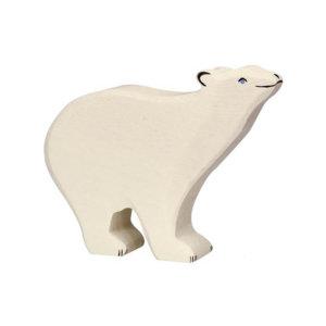 Eisbär-Kopf-hoch-Holztiger
