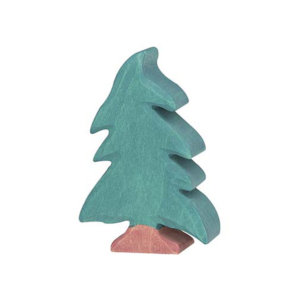 Holzfigur-Nadelbaum-klein-Holztiger