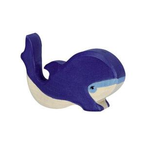 Holztier-Blauwal-klein-Holztiger