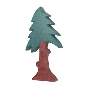 Holzfigur-Nadelbaum-hoch-mit-Krone-Holztiger