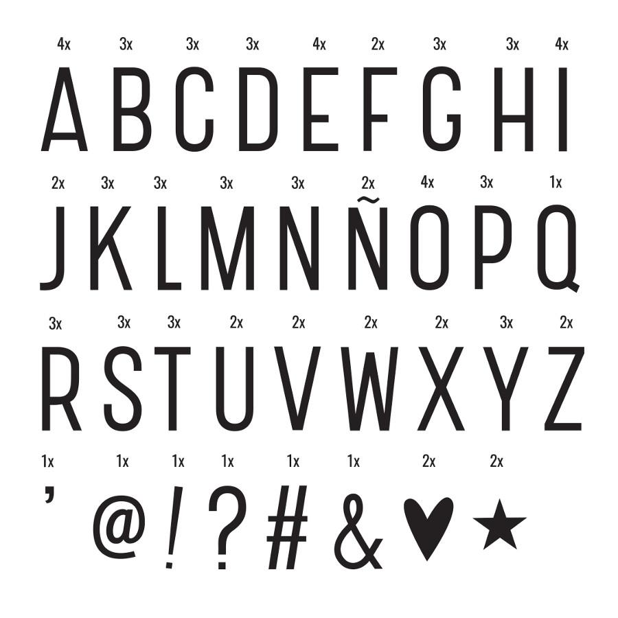 Lightbox Buchstaben Set Basic Minamo