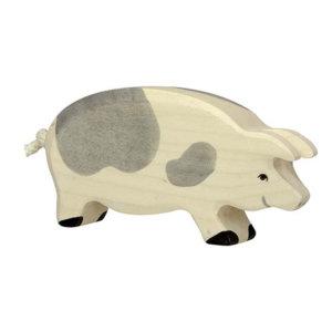 Holztier-Schwein-gefleckt-Holztiger