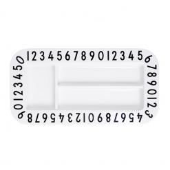 Kindergechirr-Snackplatte-rectangular-Design-Letters