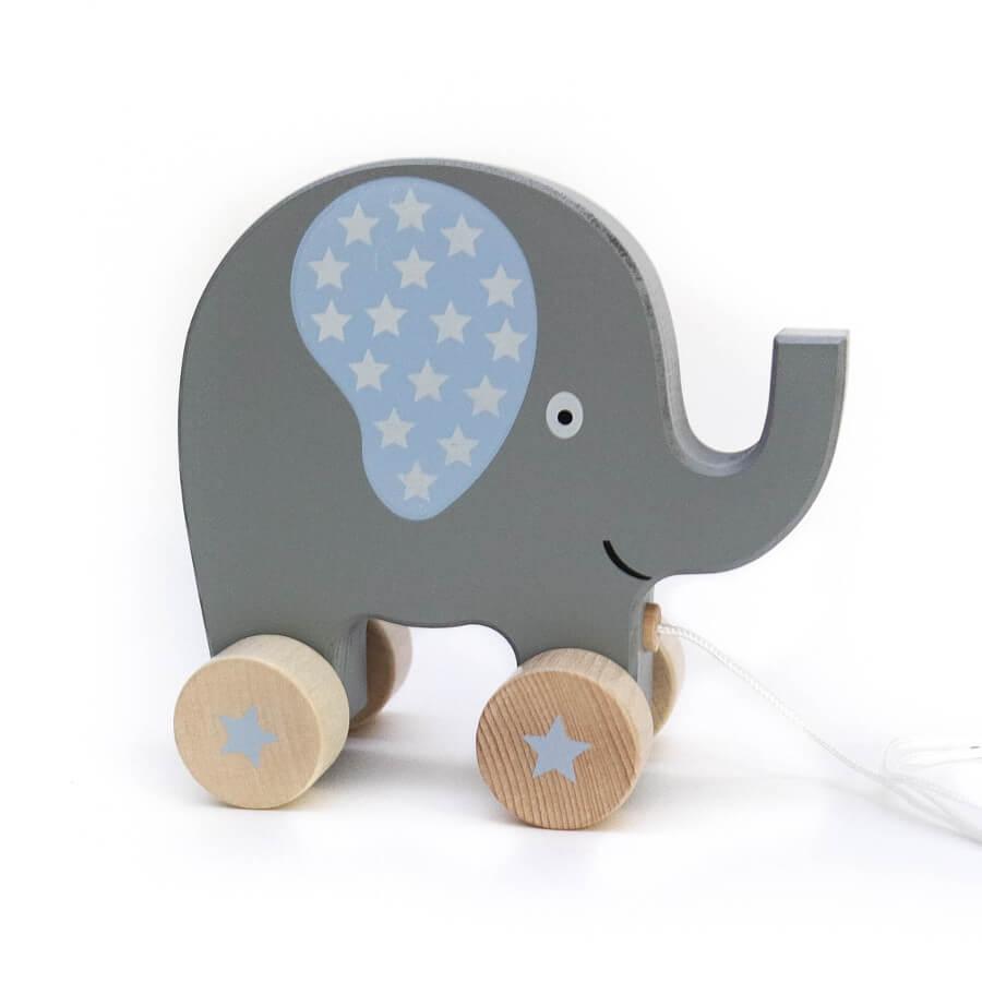 Nachziehtier Elefant blau - minamo