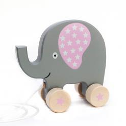 Nachziehtier-Elefant-Sterne-rosa-Minamo