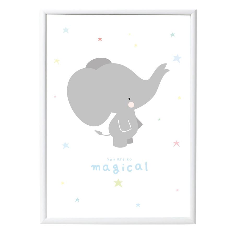 Poster Elefant grau - minamo
